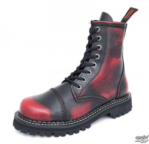 boty KMM - vínové - osemdierkové