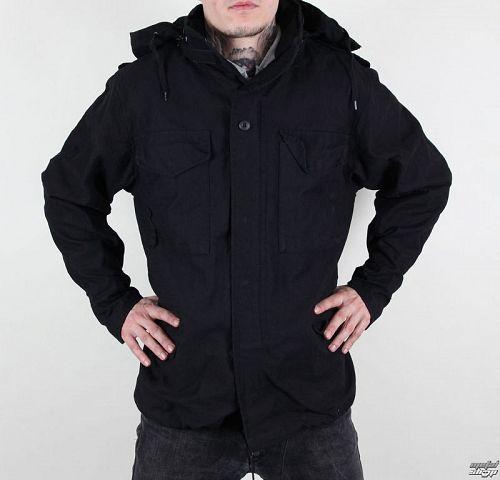 bunda pánska jarno-jesenná M65 Fieldjacket NYCO washed - BLACK - 100304