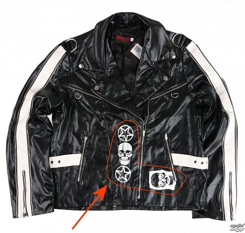 bunda pánska (křivák) ADERLASS - Rock Jacket Lacrimas Profundere - Black - POŠKODENÁ - BEA226