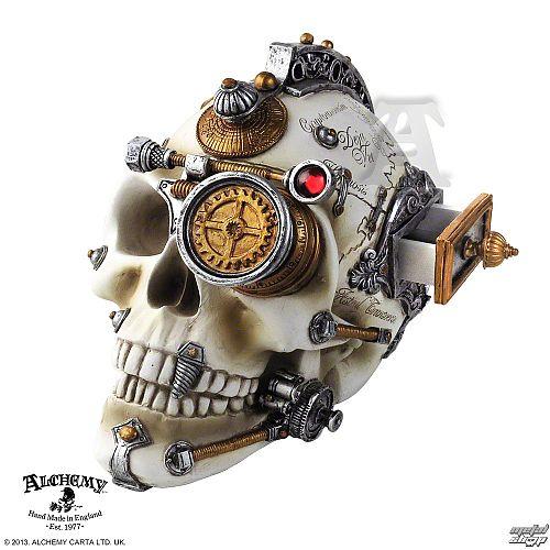 dekorácia Alchemy Gothic - Erasmus Darwin's Steam-Cerebrum Skull - V4