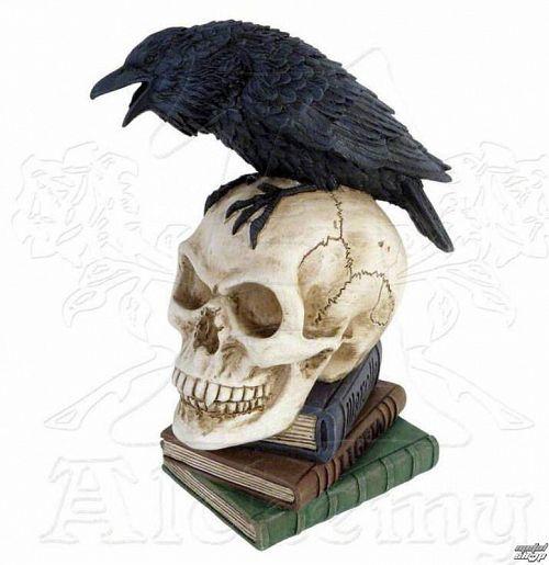 dekorácia ALCHEMY GOTHIC - Poes Raven - V17