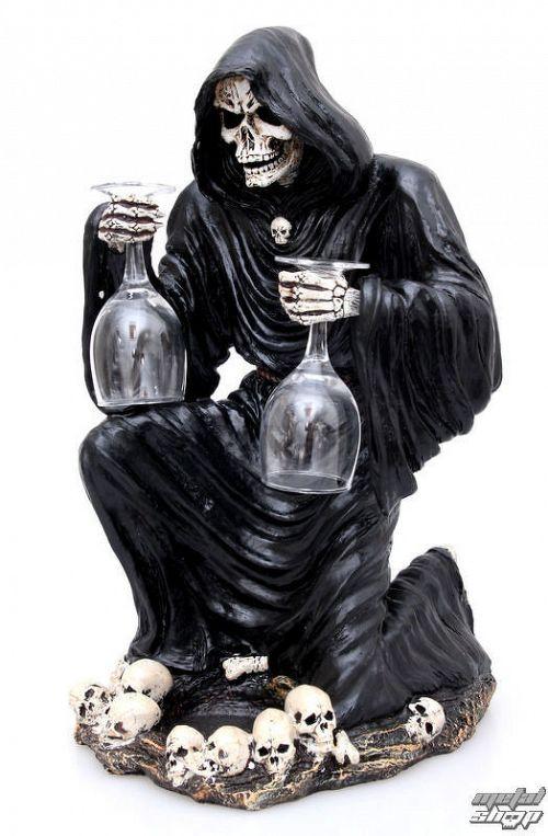 dekorácia Grim Reaper Bottle and Glass Holder - NEM6307