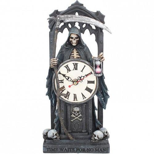 dekorácia (hodiny) Time Waits for No Man - B3588J7