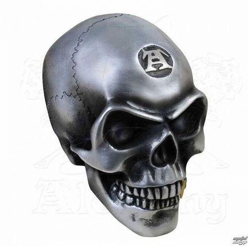 dekorácia (lebka) ALCHEMY GOTHIC - Metalised Alchemist Skull - V41