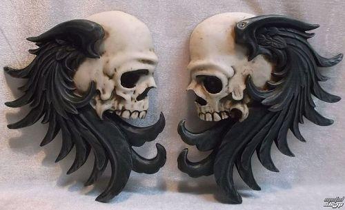 dekorácia nástenná Rocker Skull - 766-5781