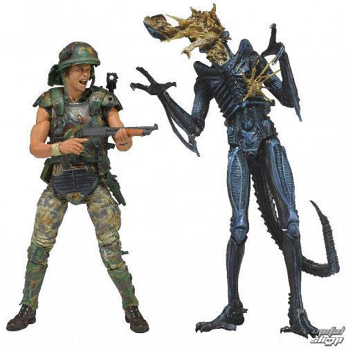 figúrka Alien - Hicks vs. Battle Damaged Blue Warrior - 51396