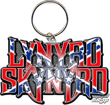 kľúčenka - prívesok Lynyrd Skynyrd (Flag Logo) - ROCK OFF - LSKEY02