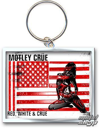 kľúčenka - prívesok Mötley Crüe (Red, White & Crue Logo) - ROCK OFF - MOTKEY09