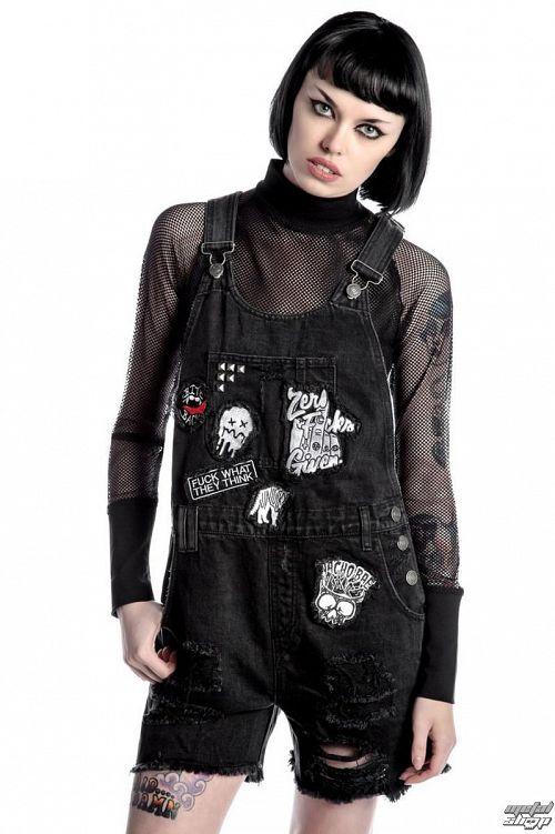 kraťasy dámske KILLSTAR - Jinx Cursed Cutie - Black - K-BTM-F-2395