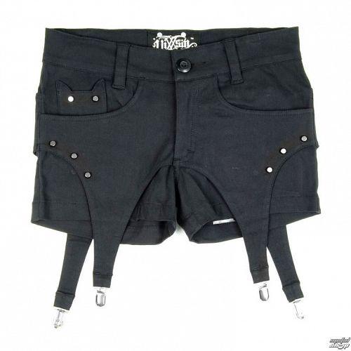 kraťasy dámske VIXXSIN - Suspender - Black - POI065
