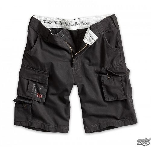 kraťasy pánske SURPLUS - Trooper Shorts - Black - 07-5600-63