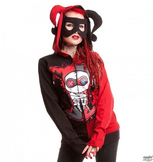 mikina dámska CUPCAKE CULT - Jester - Black / Red - POI053