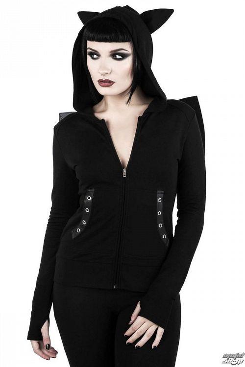 mikina dámska KILLSTAR - Tokyo Nights I'm A Bat - Black - K-HOD-F-2675