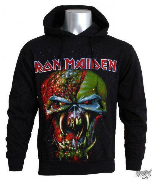mikina pánska Iron Maiden - Final Frontier Big Head - ROCK OFF - IMHOOD01MB