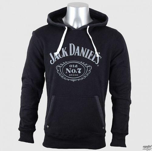 mikina pánska Jack Daniels - Old No. 7 - Black - BIOWORLD - HD030080JDS