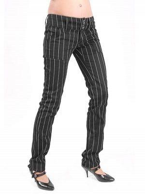 nohavice dámske ADERLASS - Pretty Low-Cut Pin Stripe - M-1-07-050-01
