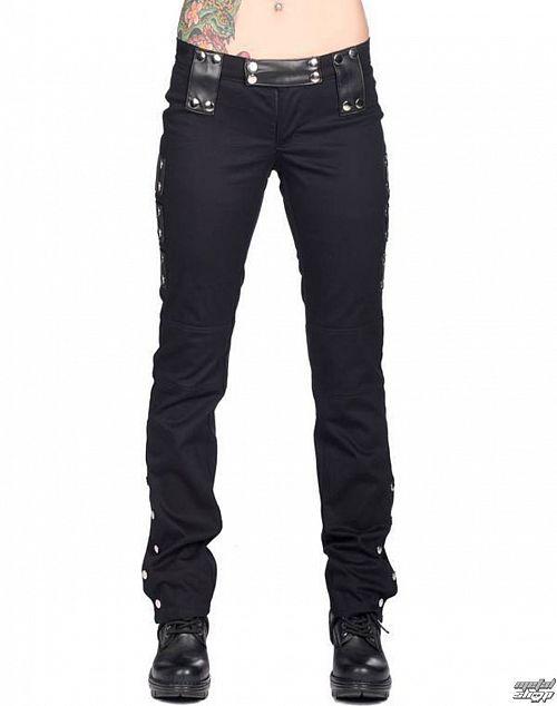nohavice dámske BLACK PIŠTOL - Stud Low Cut Denim - Black - B-1-39-001-00