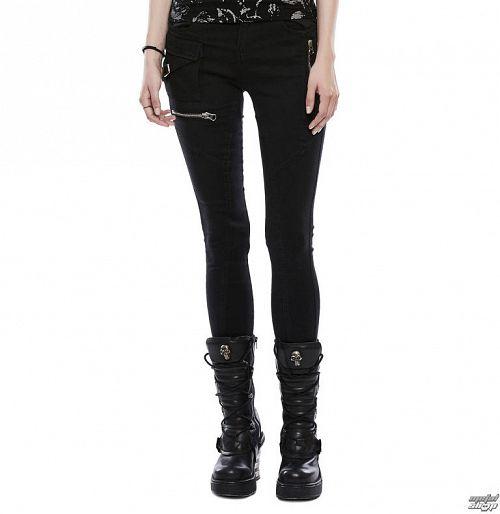 nohavice dámske (jeans) PUNK RAVE - Black Star - OPK-159