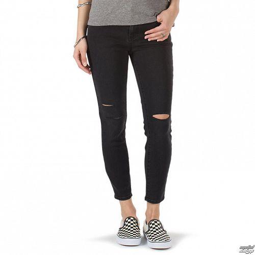 nohavice dámske (jeansy) VANS - DESTRUCTED SKINNY - Smoke - VA31OLSMK