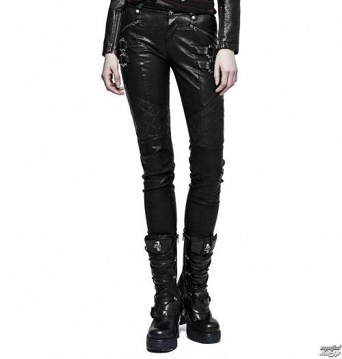 nohavice dámske PUNK RAVE - K-297 Mantrap leather - K-297