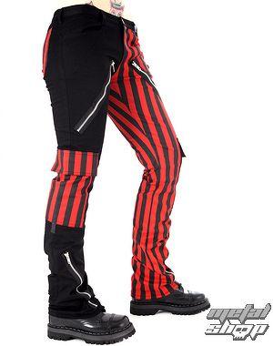nohavice pánske Black Pistol - Freak Pants Stripe (Black / Red) - B-1-21-319-04