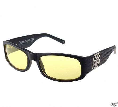okuliare West Coast Choppers - WCC GANGSCRIPT - MATTE BLACK YELLOW - WCCZBOO9GL