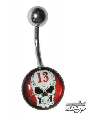 piercingový šperk Lebka - 1PCS - L 099 - MABR