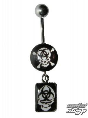piercingový šperk Lebka - 4PCS - 16 - MABR