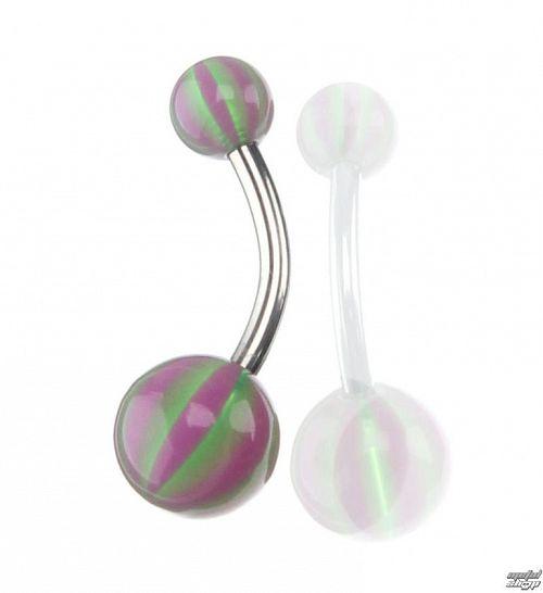 piercingový šperk - Purple / Green - IV046