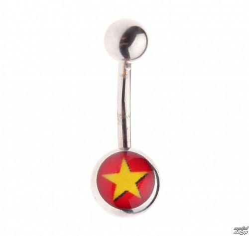 piercingový šperk - Star / Red - IV043