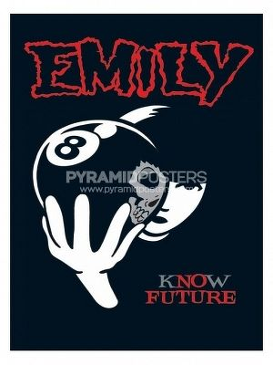 plagát - Emily The Strange (8 Ball) - PP31297 - Pyramid Posters