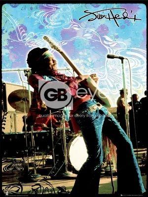 plagát - JIMI HENDRIX live - LP1270 - GB posters