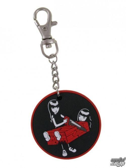 prívesok EMILY THE STRANGE - Emily (E1092312) Two Halves keychain