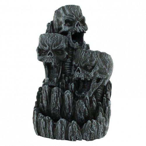 stojan na kadidlo Skull Spätnému toku Incense Tower - D1823E5
