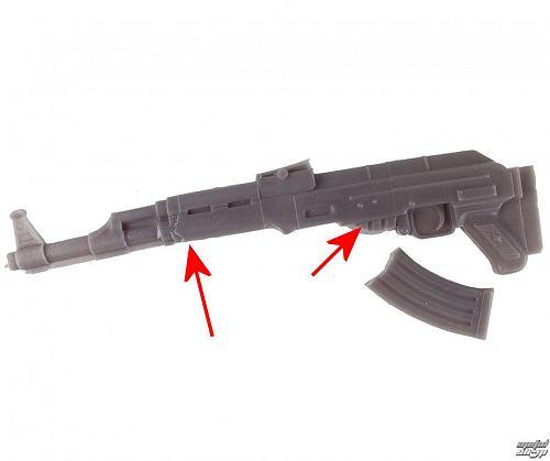 sviečka Kalashnikov - Grey - YO008 - POŠKODENÁ - N520