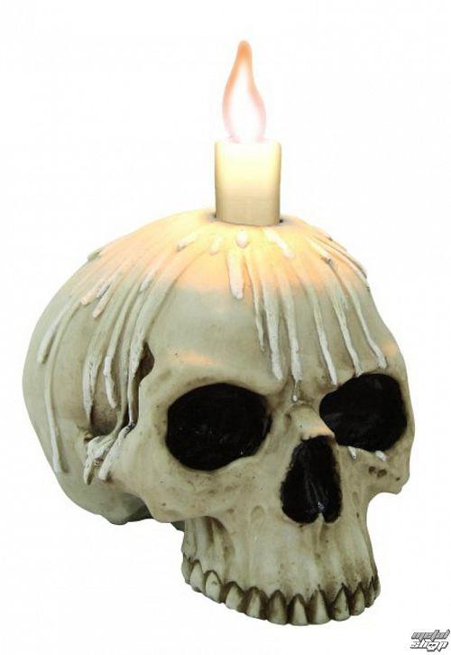 svietnik (dekorácia) Candle skull w / o lower jaw - 766-9067