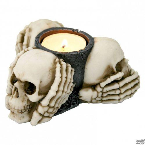 svietnik (dekorácia) Three Múdry Skulls - NENOW - D1982F6