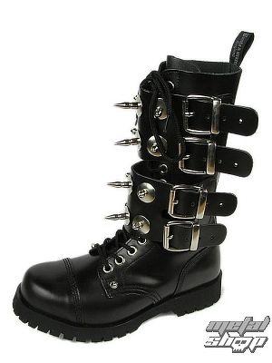 topánky BOOTS & BRACES - Scare 4-buckles - ČIERNE - 601404