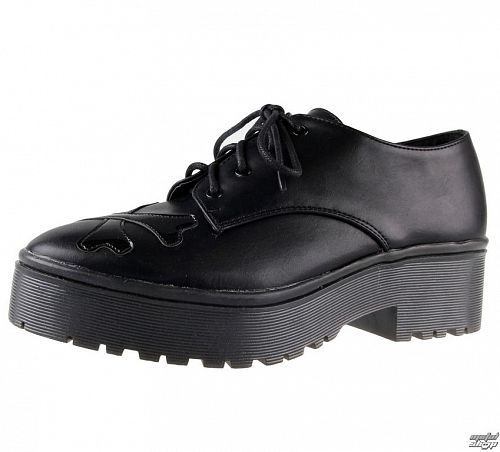 topánky dámske IRON FIST - Hey You Guys cleated Sole Flat (Black) - IFW005995-BLACK