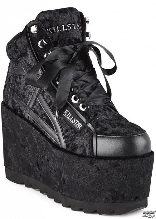 topánky dámske KILLSTAR - MALICE PLATFORM TRAINERS - BLACK - K-FTW-F-2889