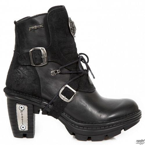 topánky dámske NEW ROCK - ITALI NEGRO, DRAMA ANTE NEGRO - M.NEOTR061-S1