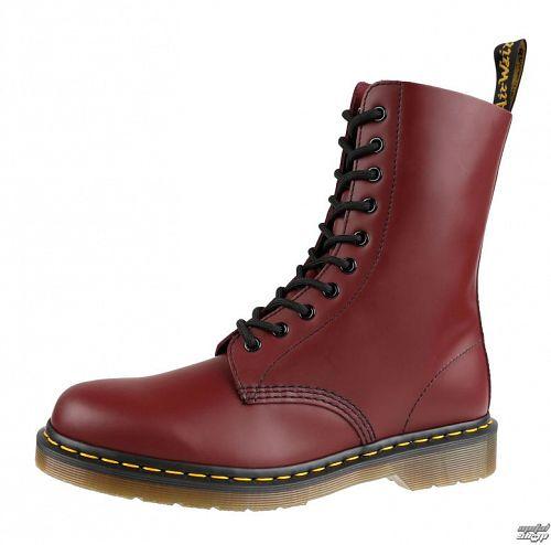 topánky DR. MARTENS - 10 dierkové - 1490 Smooth - Cherry Red - DM11857600