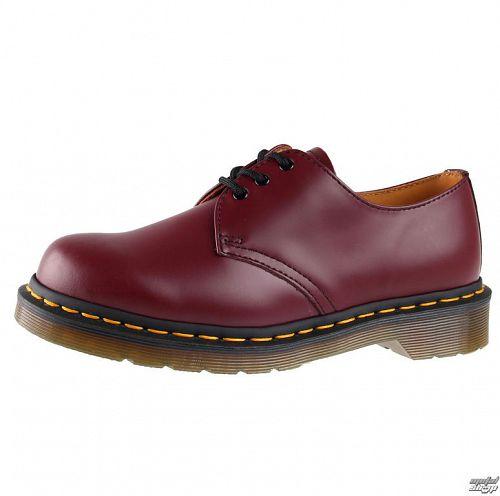 topánky Dr. Martens - 3 dírkové - DM 1461 59 - CHERRY RED SMOOTH - DM10085600