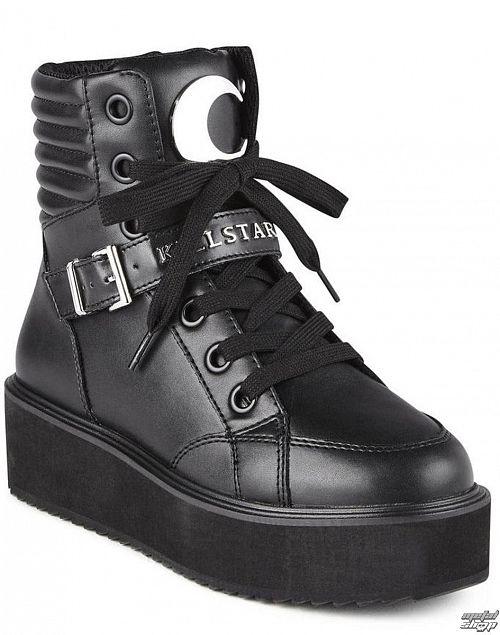 topánky KILLSTAR - LUNA HIGH TOPS - BLACK - K-FTW-F-2888