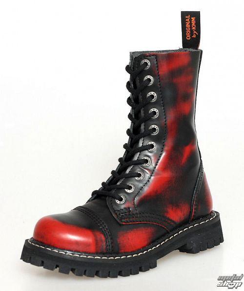 topánky KMM 10dírkové - Red / Black - 100