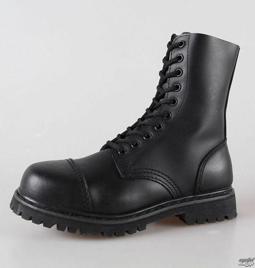 topánky kožené 10dírkové BRANDIT - Phantom Black - 9002/2
