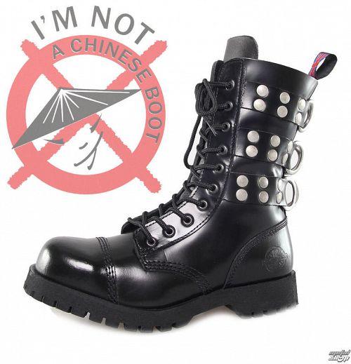 topánky NEVERMIND - 10 dierkové - Rivets Black - 10110S
