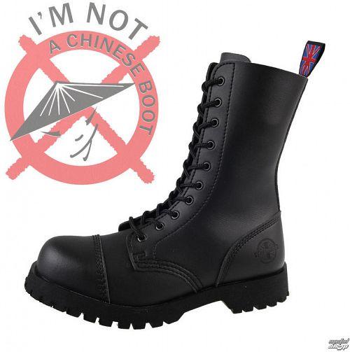 topánky NEVERMIND - 10 dierkové - Vegan - Black Synthetic - 10110S