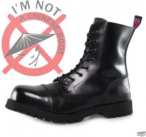 topánky NEVERMIND - 8 dierkové - Black Polido - 10108S