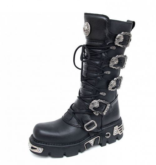 topánky NEW ROCK - 5-Buckle Boots (402-S1) Black - N-8-30-700-00